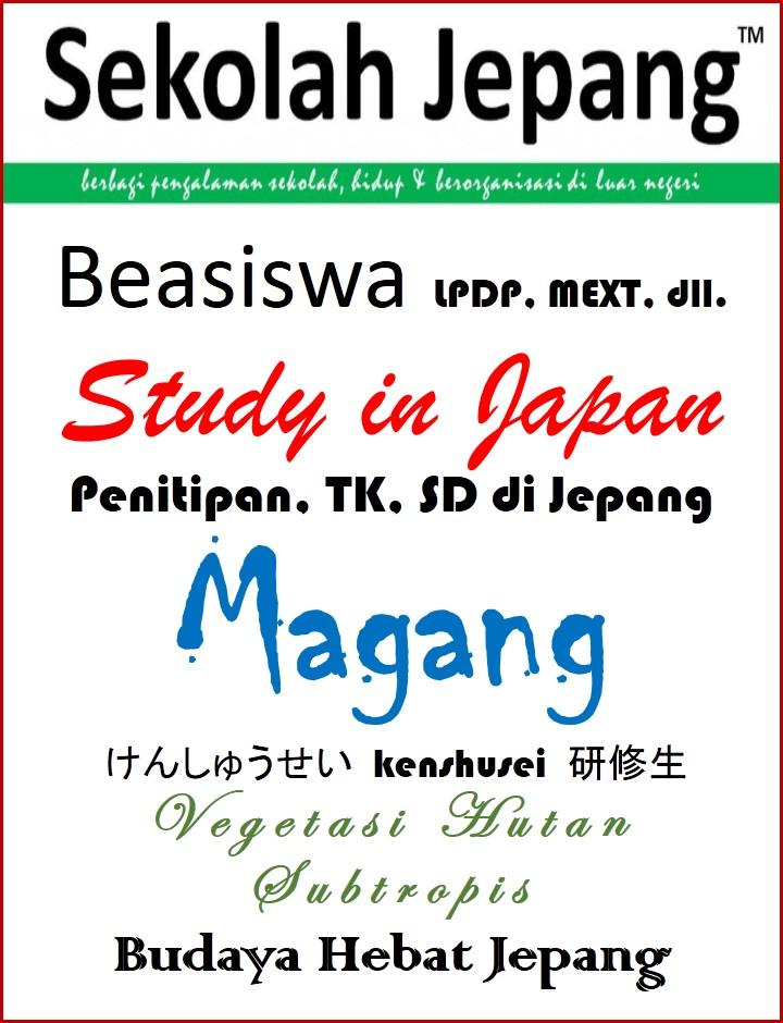 INFO BEASISWA & sekolah di Jepang